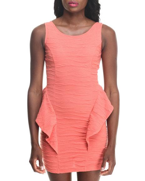 Fashion Lab - Women Orange Holly Peplum Dress