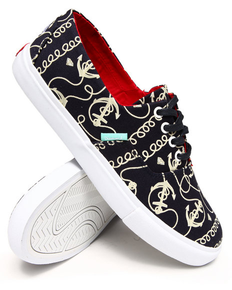 Diamond Supply Co - Men Navy Diamond Cuts Navy Printed Canvas Sneakers