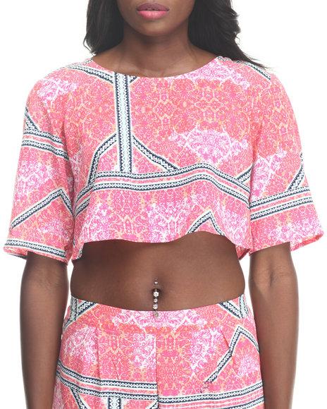 MINKPINK Multi,Pink Eastern Aztec Top