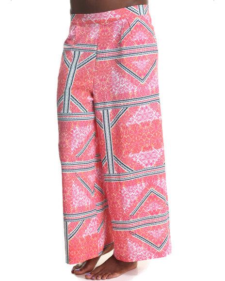 MINKPINK Multi,Pink Eastern Aztec Palazzo Pants
