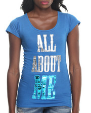 Graphix Gallery - ALL ABOUT ME TEE W/STONES