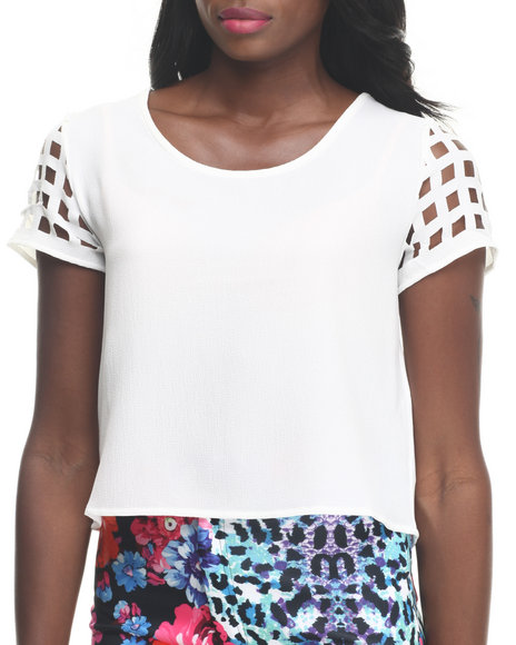 Minkpink White Fashion Tops