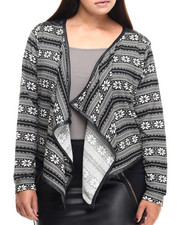 Plus Size - Pam Open Front Fly Away Cardigan (Plus)