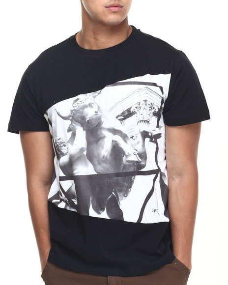 Akademiks - Men Black Fighter Sublimation Tee