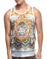 Men - Rege Mesh Perfarated Faux Leather tank top