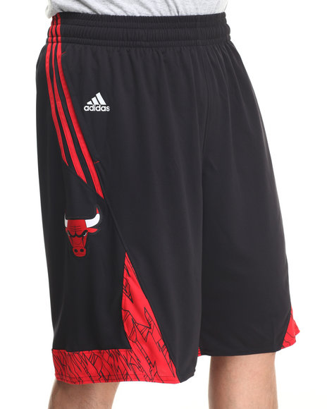 Adidas Black Chicago Bulls Pre-Game Shorts