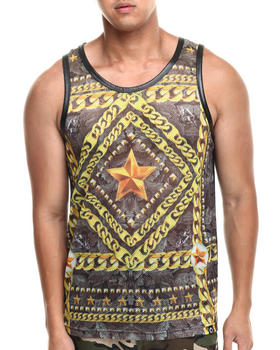 Akademiks - Dama Mesh Perforated Faux Leather tank top
