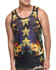 Men - Astro Mesh Perforated Faux Leather tank top