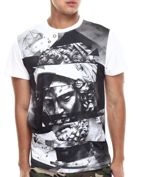 Akademiks - Men White Gorgon Sublimation Tee - $22.99