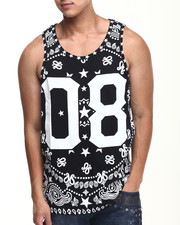Men - True Colors Bandana Print Tank Top