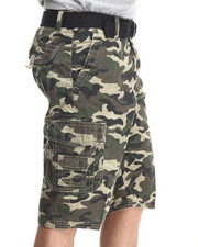 Basic Essentials - Multi Pocket Cargo Shorts with Belt