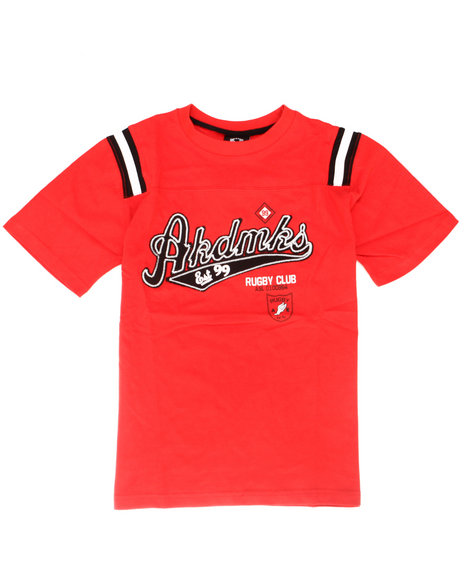 Akademiks - Boys Red Rugby Club Shirt (8-20)
