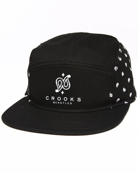 Crooks & Castles Men Bandit Strapback Black