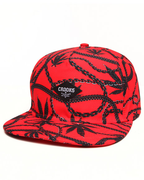 Crooks & Castles Chainleaf Snapback Red