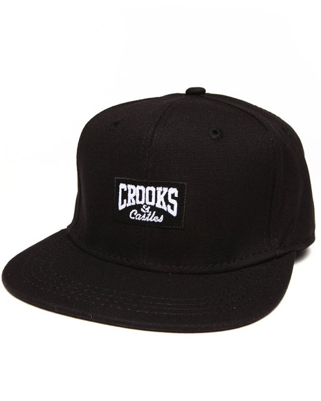 Crooks & Castles Core Logo Strapback Black