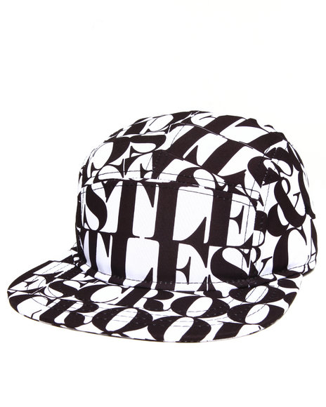 Crooks & Castles Headliner 5 Panel Cap White