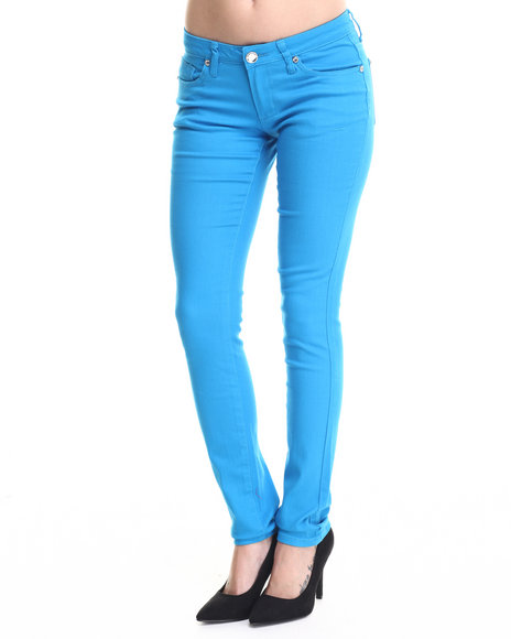 Basic Essentials - Women Blue Basic 5 Pocket Skinny Jeans