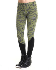 Women - Chain Leaf Legging w/ Solid Bottom Panel
