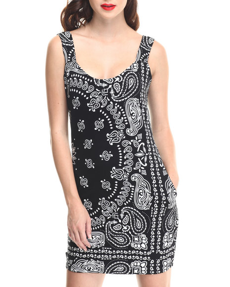 Crooks & Castles - Women Black Bandit Fitted Knit Dress