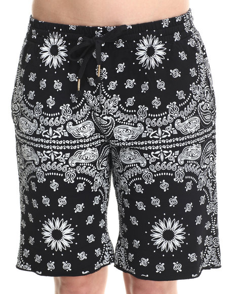 Crooks & Castles Black Bandit Drawstring Knit Sweatshorts