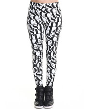 Leggings - Headliner Allover Lettering Knit Leggings