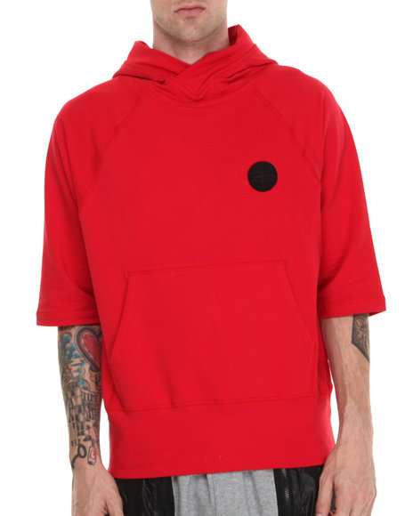 Black Apple - Men Red Ludlow 3/4 Sleeve Hoodie