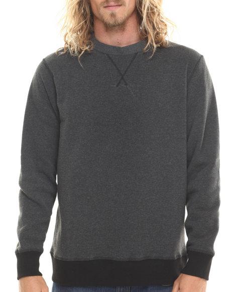 Basic Essentials - Men Grey Crewneck Sweatshirt
