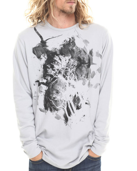 Buyers Picks - Men Grey Ornate Printed Thermal