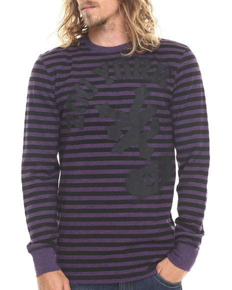 Zoo York - SPRAYED UP STRIPED L/S THERMAL