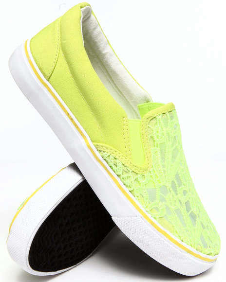 Fashion Lab - Women Yellow Destry Lace Top Slip On Sneaker - $25.99