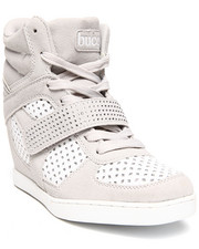 Fashion Lab - Bibiana Contrast Lace Up Sneaker Wedge