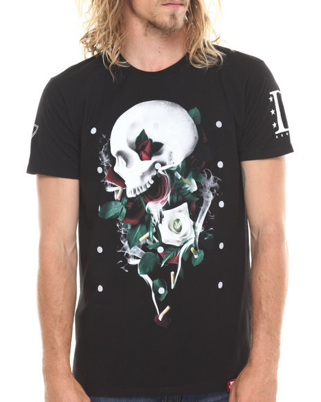 Entree Black Drugs And Roses T-Shirt