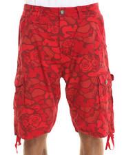 Men - Blackout Rose Camo Cargo Shorts