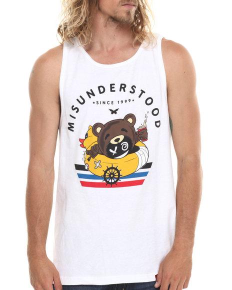 Entree White Misunderstood Bear Tank