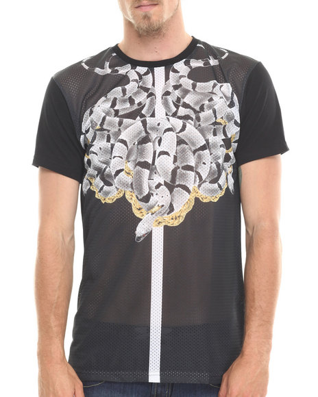 Entree - Men Black Verus Mesh T-Shirt