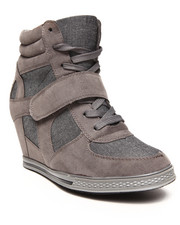 Women - Nicolette Two Tone Denim Sneaker Wedge
