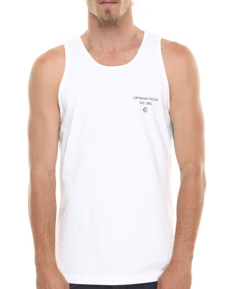 Crooks & Castles - Men White Coca Tank