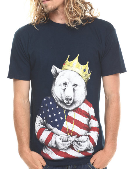 ROOK Navy Biggie Bear Americana T-Shirt
