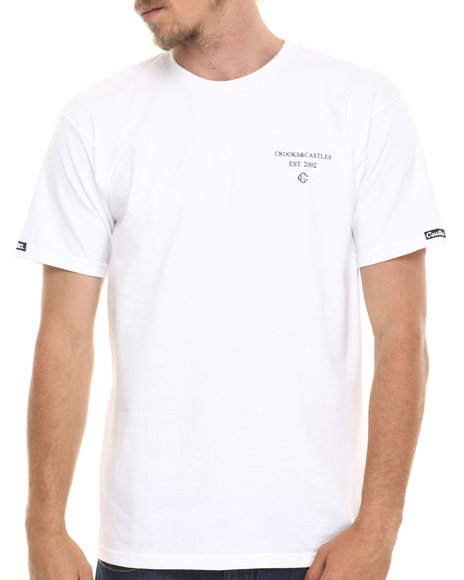 Crooks & Castles - Men White Squad T-Shirt