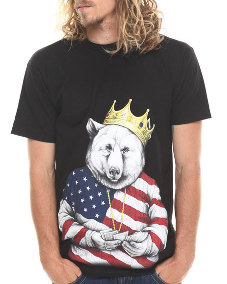 ROOK Black Biggie Bear Americana T-Shirt