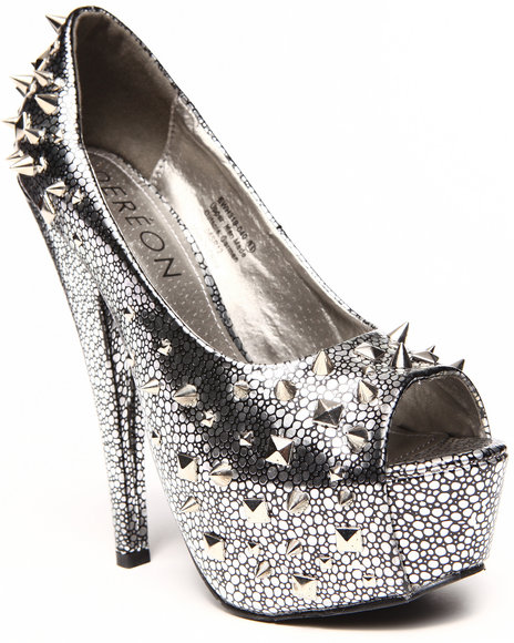 Dereon - Women Silver Carrisma Open Toe Pump