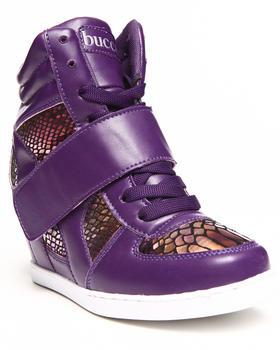 Fashion Lab - Rachella Metallic Snake Print Underlay Sneaker Wedge