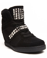 Sneakers - Freida Studded Strap Sneaker Wedge