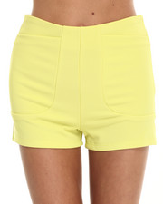 Fashion Lab - Don't Drop The Lime Textured High Waisted Short