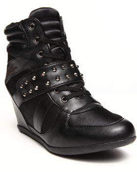 Apple Bottoms - Junia Studded Wedge Sneaker