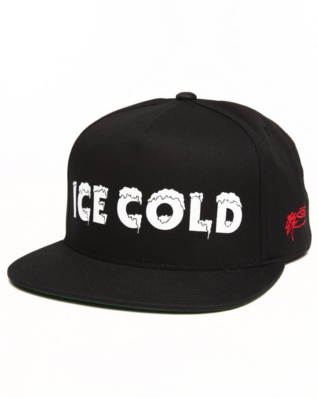 Ssur Men Ice Cold Snapback Cap Black