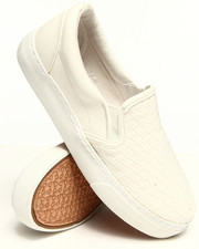 Women - Vegan Leather Woven Slip-on Sneaker