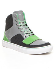 Men - Cesario X - Grey Perforated High Top Sneaker