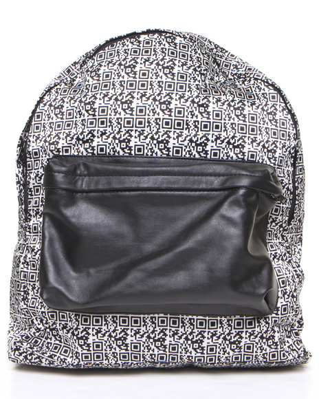 This Is A Love Song Women Barcode Printed Backpack Black - $73.99