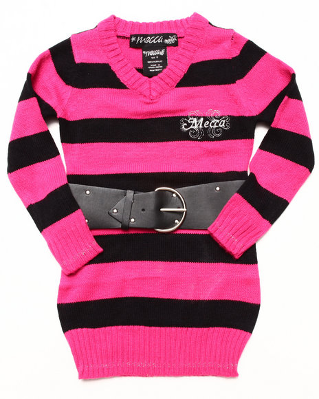 Mecca Girls - Girls Multi Angela Belted Sweater (4-6X)